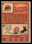1966 Topps #89  Dick Wood  Back Thumbnail