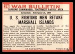 1965 Philadelphia War Bulletin #36   Pinned Down Back Thumbnail