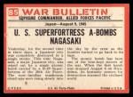 1965 Philadelphia War Bulletin #85   Super Bomb Back Thumbnail
