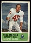 1962 Fleer #51  Tony Banfield  Front Thumbnail