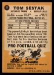 1967 Topps #27  Tom Sestak  Back Thumbnail
