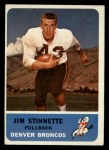 1962 Fleer #42  Jim Stinnette  Front Thumbnail