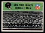 1965 Philadelphia #113   Giants Team Front Thumbnail