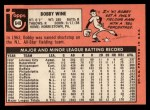 1969 Topps #648  Bobby Wine  Back Thumbnail