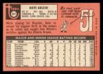 1969 Topps #341  Dave Adlesh  Back Thumbnail