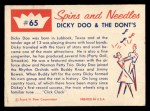 1960 Fleer Spins and Needles #65  Dicky Doo and the Dont's  Back Thumbnail