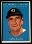 1961 Topps #481   -  Hank Sauer Most Valuable Player Front Thumbnail