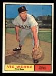 1961 Topps #340  Vic Wertz  Front Thumbnail