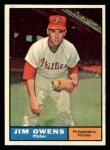 1961 Topps #341  Jim Owens  Front Thumbnail