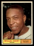 1961 Topps #458  Willie Tasby  Front Thumbnail