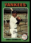 1975 Topps Mini #585  Chris Chambliss  Front Thumbnail