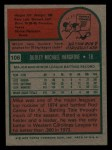 1975 Topps Mini #106  Mike Hargrove  Back Thumbnail