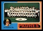 1975 Topps Mini #146   -  John McNamara Padres Team Checklist Front Thumbnail