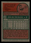 1975 Topps Mini #164  Mickey Rivers  Back Thumbnail