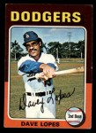 1975 Topps Mini #93  Dave Lopes  Front Thumbnail