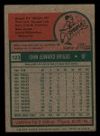 1975 Topps Mini #123  Johnny Briggs  Back Thumbnail
