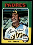 1975 Topps Mini #168  Bill Greif  Front Thumbnail