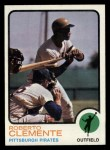 1973 Topps #50  Roberto Clemente  Front Thumbnail