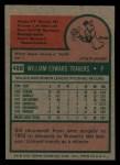 1975 Topps Mini #488  Bill Travers  Back Thumbnail