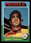 1975 Topps Mini #343  Danny Frisella  Front Thumbnail