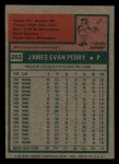 1975 Topps Mini #263  Jim Perry  Back Thumbnail