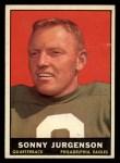1961 Topps #95  Sonny Jurgensen  Front Thumbnail