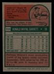 1975 Topps Mini #111  Wayne Garrett  Back Thumbnail
