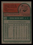 1975 Topps Mini #158  Jerry Grote  Back Thumbnail