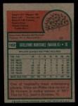 1975 Topps Mini #162  Willie Montanez  Back Thumbnail