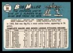 1965 Topps #98  Bob Miller  Back Thumbnail