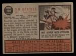 1962 Topps #290  Jim Gentile  Back Thumbnail