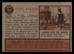 1962 Topps #355  Steve Barber  Back Thumbnail