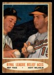 1962 Topps #423   -  Roy Face / Hoyt Wilhelm Rival League Relief Aces Front Thumbnail