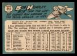 1965 Topps #444  Bob Hendley  Back Thumbnail