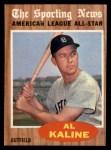 1962 Topps #470   -  Al Kaline All-Star Front Thumbnail