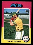 1975 Topps Mini #91  Dick Green  Front Thumbnail