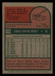 1975 Topps Mini #175  Don Money  Back Thumbnail