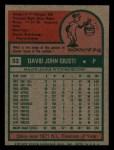1975 Topps Mini #53  Dave Giusti  Back Thumbnail