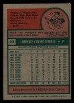 1975 Topps Mini #49  Larry Dierker  Back Thumbnail