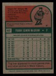 1975 Topps Mini #67  Tug McGraw  Back Thumbnail