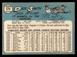 1965 Topps #579  Dick Smith  Back Thumbnail