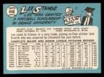 1965 Topps #448  Lee Strange  Back Thumbnail