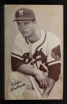 1962 Exhibit Stat Back #25  Eddie Mathews  Front Thumbnail