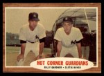 1962 Topps #163 GRN  -  Billy Gardner / Clete Boyer Hot Corner Guardians Front Thumbnail