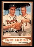 1962 Topps #351   -  Joe Torre / Del Crandall Braves' Backstops Front Thumbnail