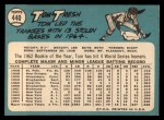 1965 Topps #440  Tom Tresh  Back Thumbnail