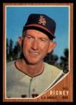1962 Topps #549  Bill Rigney  Front Thumbnail