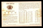 1970 Kelloggs #55  Johnny Unitas  Back Thumbnail