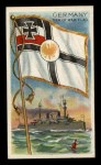 1911 Flags of All Nations T59 #50 REC  Germany Man of War Flag Front Thumbnail