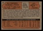 1972 Topps #281  Bill Parsons  Back Thumbnail